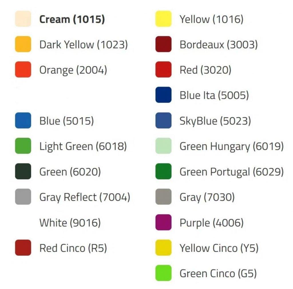 nelo color options for custom design